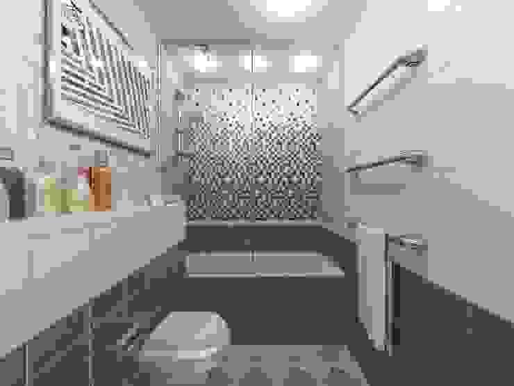 Современная семейная квартира OK Interior Design Ванная комната в стиле модерн