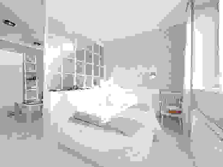 Скандинавия: визуализация современной квартиры Спальня в скандинавском стиле от OK Interior Design Скандинавский