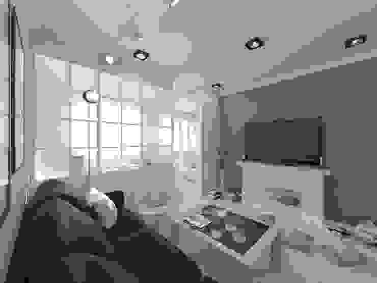 Скандинавия: визуализация современной квартиры Гостиная в скандинавском стиле от OK Interior Design Скандинавский