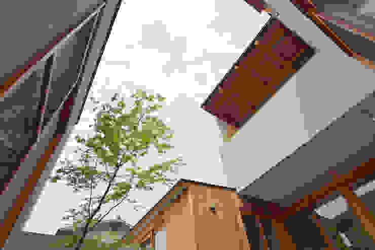 中庭を囲んで、家族が同じ空を見上げる家 モダンな庭 の ELD INTERIOR PRODUCTS モダン