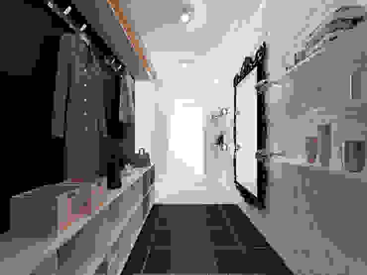 Скандинавия: визуализация современной квартиры Коридор, прихожая и лестница в скандинавском стиле от OK Interior Design Скандинавский