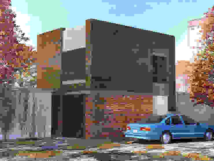 Реконструкция гаража под офисное помещение Дома в стиле лофт от Архитектурная мастерская DOME Лофт