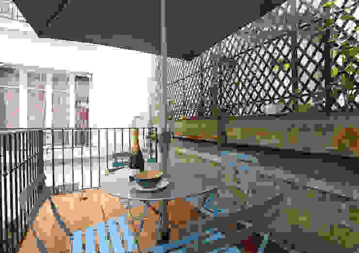 Balcone, Veranda & Terrazza in stile moderno di Xavier Lemoine Architecture d'Intérieur Moderno