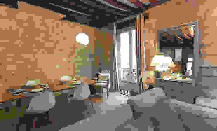 Projekty,  Salon zaprojektowane przez Xavier Lemoine Architecture d'Intérieur