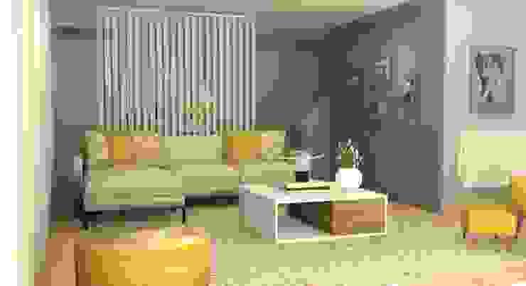 CASA BENFICA Salas de estar ecléticas por Santiago | Interior Design Studio Eclético