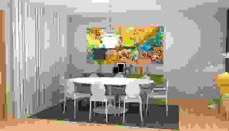 CASA BENFICA Salas de jantar modernas por Santiago | Interior Design Studio Moderno