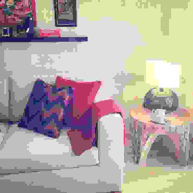 CASA TOMAR Salas de estar coloniais por Santiago | Interior Design Studio Colonial