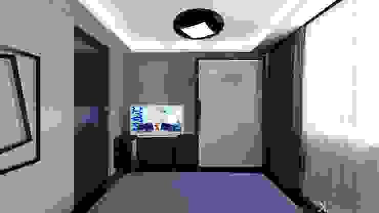 Современный монохром в таунхаусе Спальня в стиле модерн от Константин Паевский-PAEVSKIYDESIGN Модерн