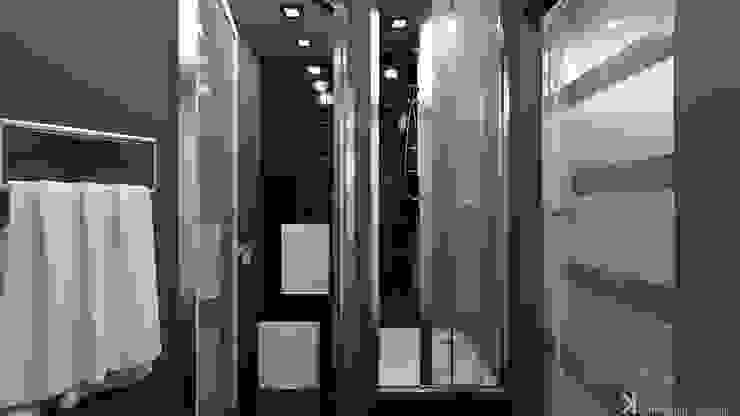Современный монохром в таунхаусе Ванная комната в стиле минимализм от Константин Паевский-PAEVSKIYDESIGN Минимализм