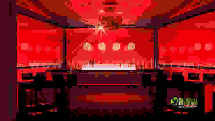 3D Interior Design Rendering for Bar: modern  by Yantram Architectural Design Studio, Modern