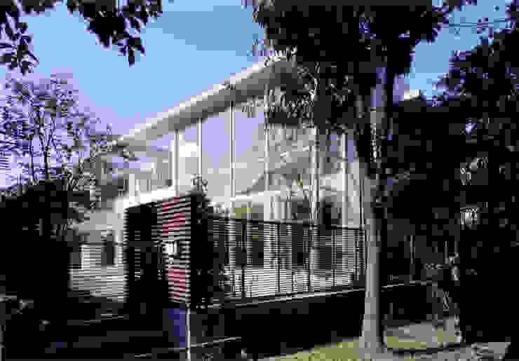 コンクリート打ち放しのモダン和風住宅 モダンな 家 の 豊田空間デザイン室 一級建築士事務所 モダン