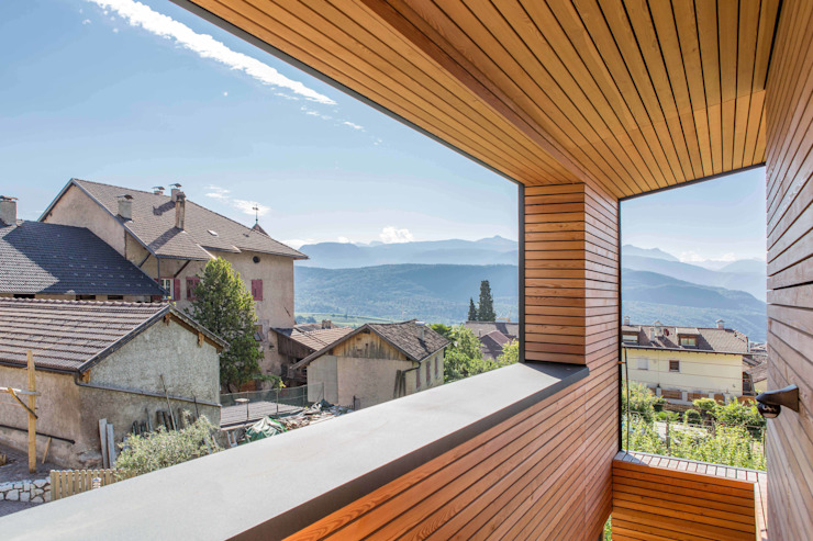 Modern Terrace by Manuel Benedikter Architekt Modern