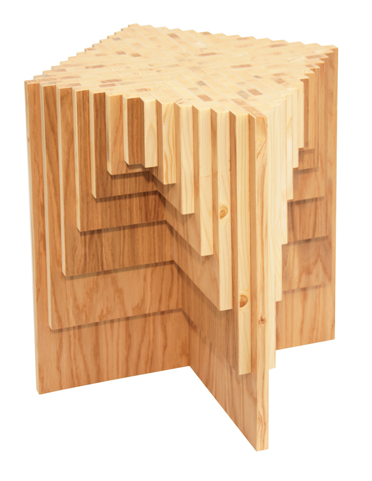 Tisch HolzX 1 von ORTerfinder Ausgefallen Holzwerkstoff Transparent