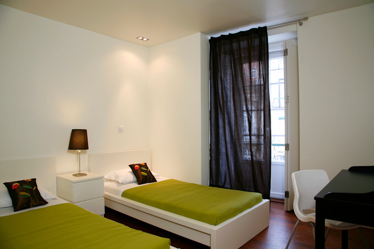 Reabilitação Apartamento Chiado Quartos modernos por Architecture Tote Ser Moderno