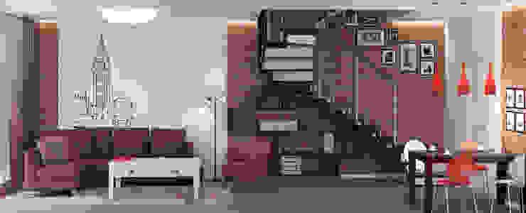 Блок-секция Гостиная в стиле лофт от Center of interior design Лофт