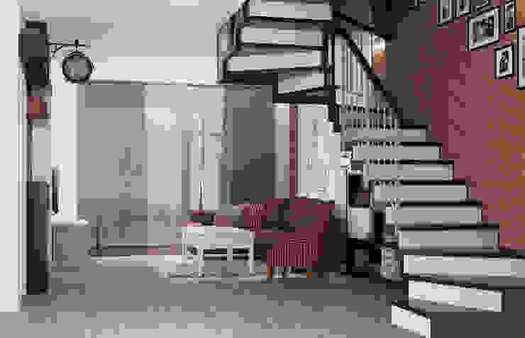 Блок-секция Коридор, прихожая и лестница в стиле лофт от Center of interior design Лофт