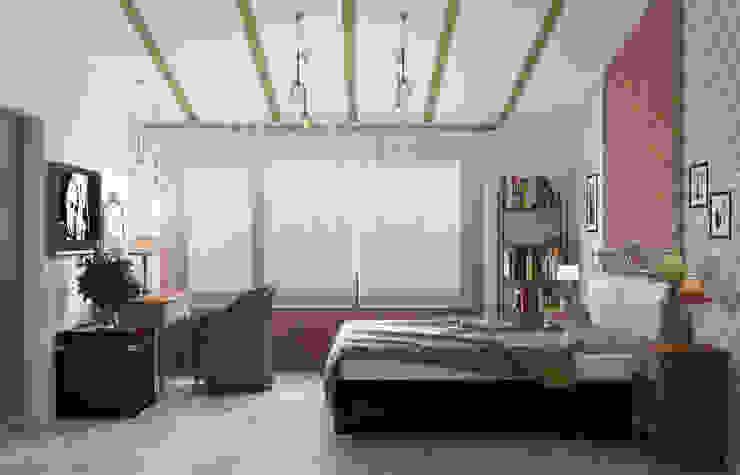 Блок-секция Спальня в стиле лофт от Center of interior design Лофт
