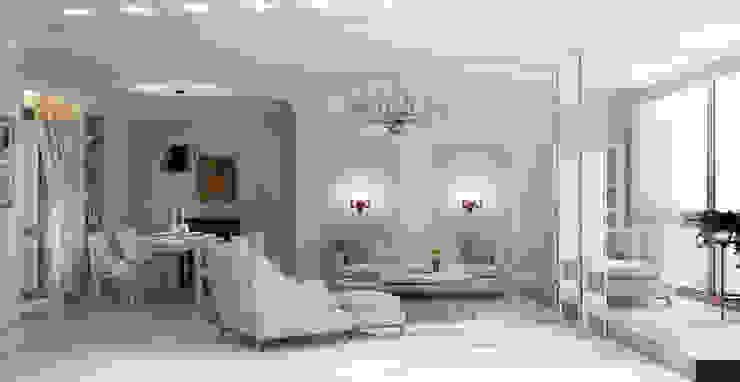 Роскошная квартира в черте города Гостиные в эклектичном стиле от Center of interior design Эклектичный