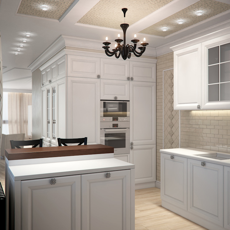 Роскошная квартира в черте города Кухни в эклектичном стиле от Center of interior design Эклектичный