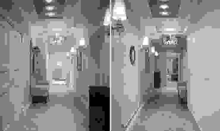 Роскошная квартира в черте города Коридор, прихожая и лестница в эклектичном стиле от Center of interior design Эклектичный
