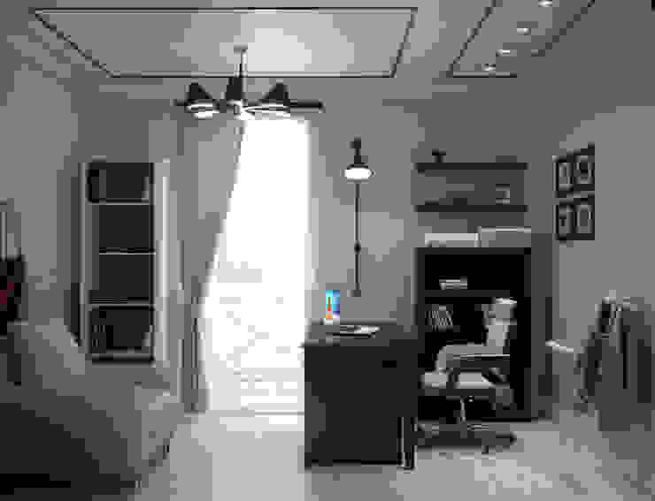 Роскошная квартира в черте города Рабочий кабинет в эклектичном стиле от Center of interior design Эклектичный