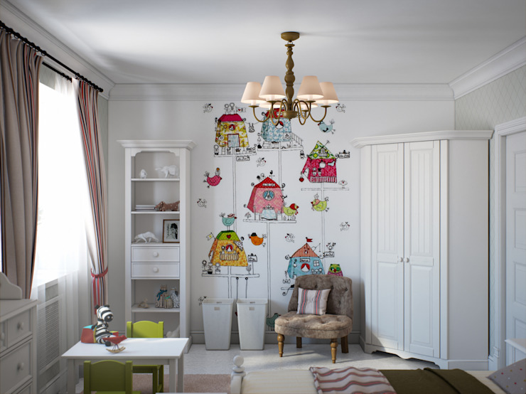 Chambre d'enfant originale par Center of interior design Éclectique