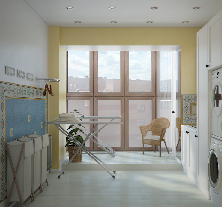Роскошная квартира в черте города Балконы и веранды в эклектичном стиле от Center of interior design Эклектичный