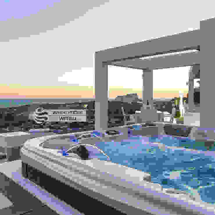 Geräumiger Outdoor-Whirlpool in Moraira, Spanien Whirlpools World Balkon, Veranda & TerrasseMöbel