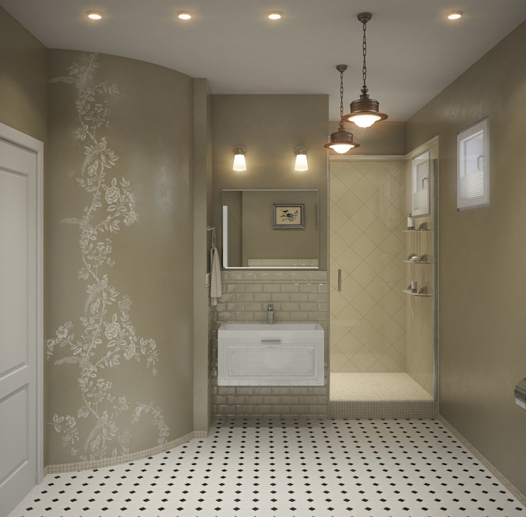 Klasyczna łazienka od Center of interior design Klasyczny