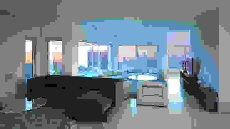 Sala de estar e Lareira por Eliana Berardo Arquitetura e Construção Moderno