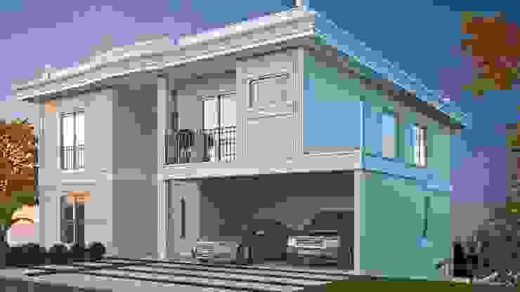 Fachada frontal Casas clássicas por Eliana Berardo Arquitetura e Construção Clássico