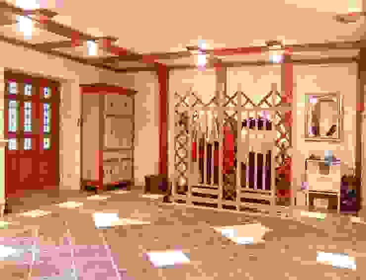 Частный дом 2 Коридор, прихожая и лестница в классическом стиле от Архитектор Владимир Калашников Классический