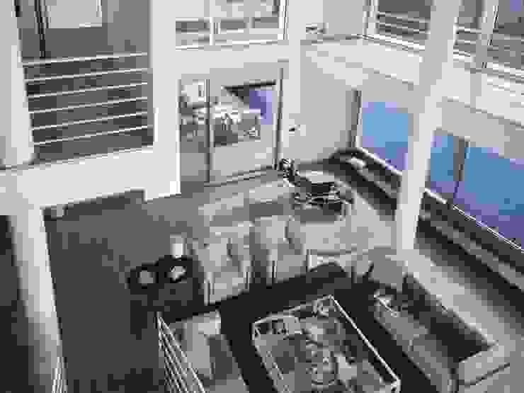 Salón con doble espacio. Salones de estilo mediterráneo de SOLER-MORATO ARQUITECTES SLP Mediterráneo