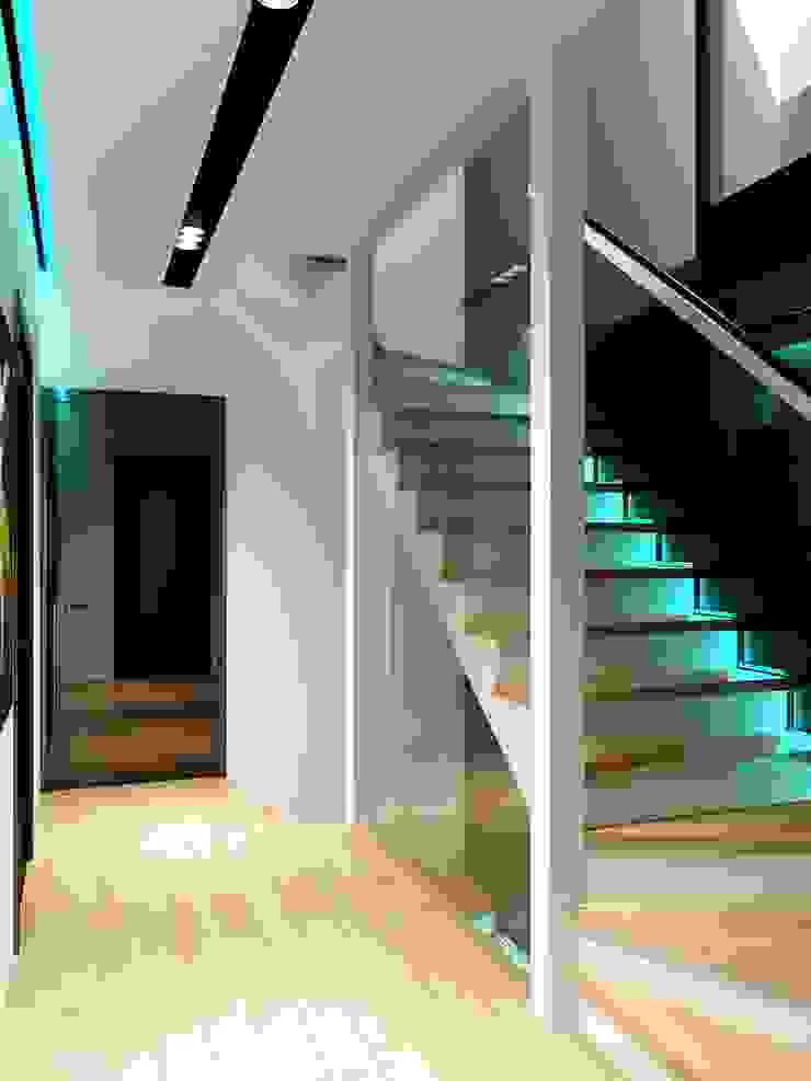 Таунхаус в г. Долгопрудный Коридор, прихожая и лестница в стиле минимализм от Антон Гришин Частный Дизайнер Интерьера Минимализм