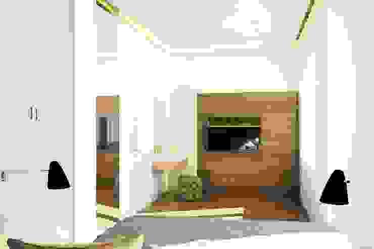 Таунхаус в г. Долгопрудный Спальня в стиле минимализм от Антон Гришин Частный Дизайнер Интерьера Минимализм