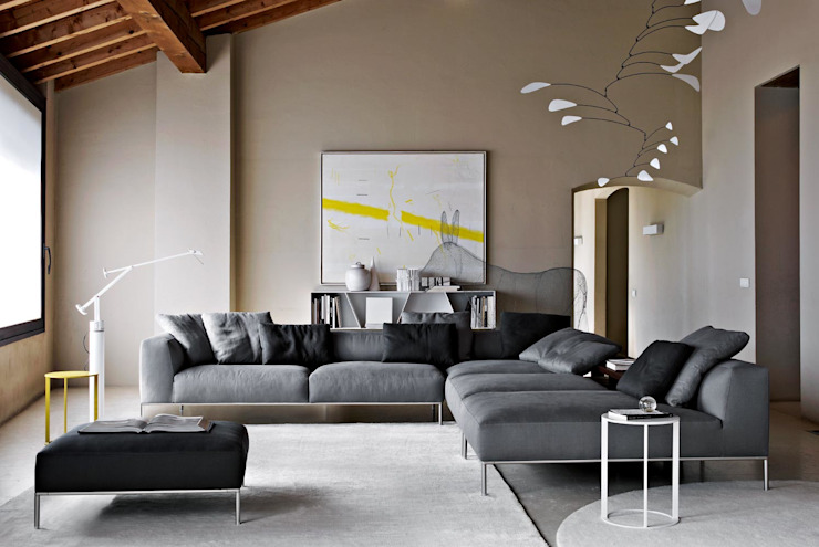 Frank Sofa by B&B Italia por Campbell Watson Moderno