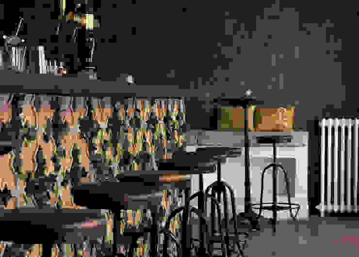 Bar en briques italiennes Bars & clubs méditerranéens par FØLSOM Méditerranéen