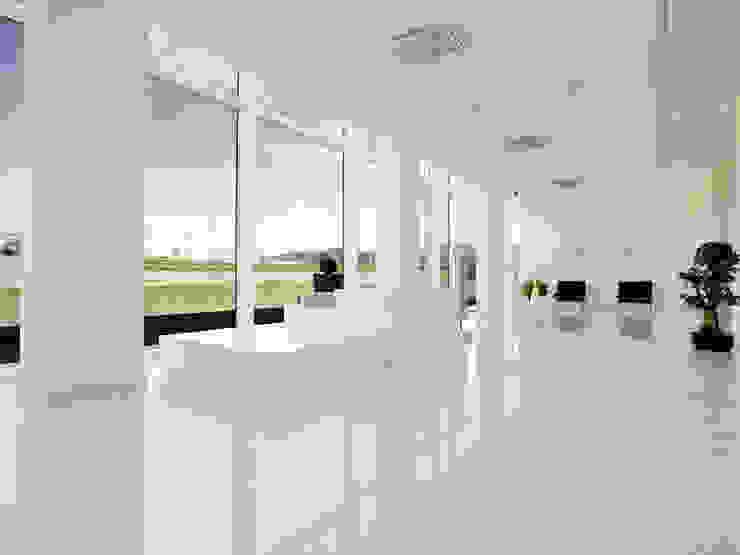 SHOW ROOM @ RIVOLI VERONESE Pareti & Pavimenti in stile moderno di Marmi Due Ci Moderno