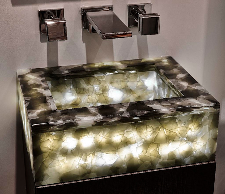 Recycle Glass Sink di Keir Townsend Ltd. Classico