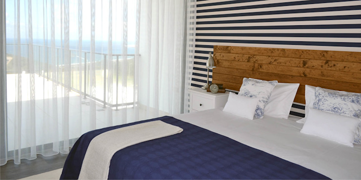 011 | Casa de Praia, Serra da Pescaria, Nazaré: Quartos  por T2 Arquitectura & Interiores,Eclético