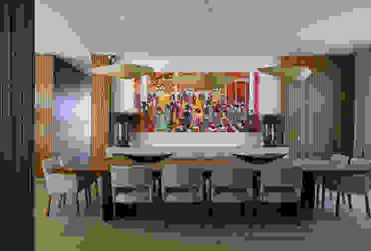 Residência Quinta da Baronesa Débora Aguiar Salas de jantar modernas