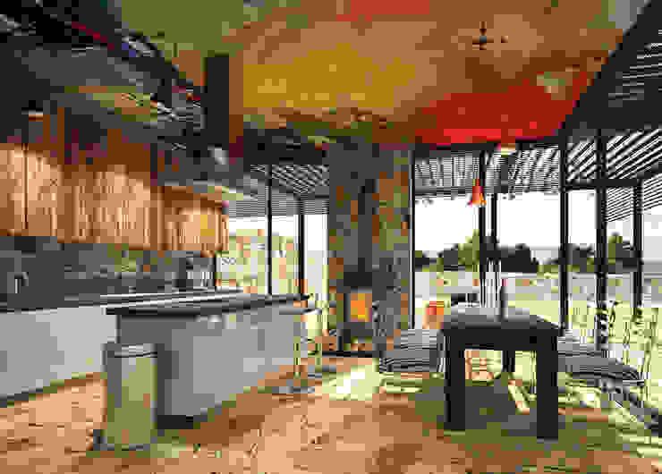 Дом в Хорватии Кухни в эклектичном стиле от FAOMI Эклектичный