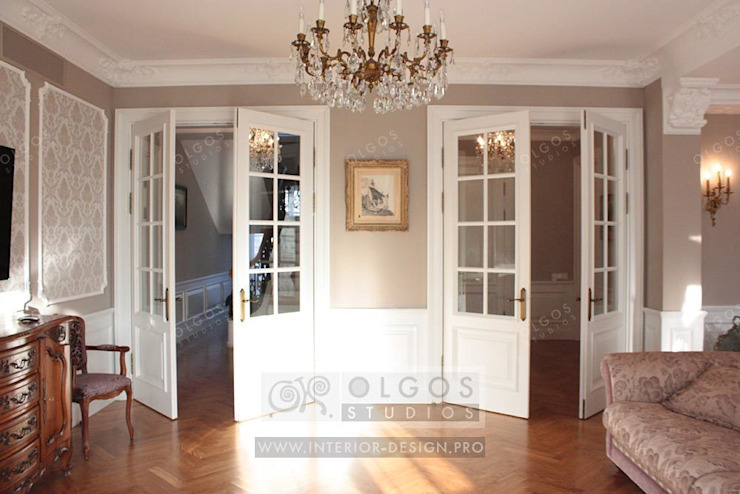 Гостиная в дизайне дома Гостиная в классическом стиле от Дизайн студия Ольги Кондратовой Классический