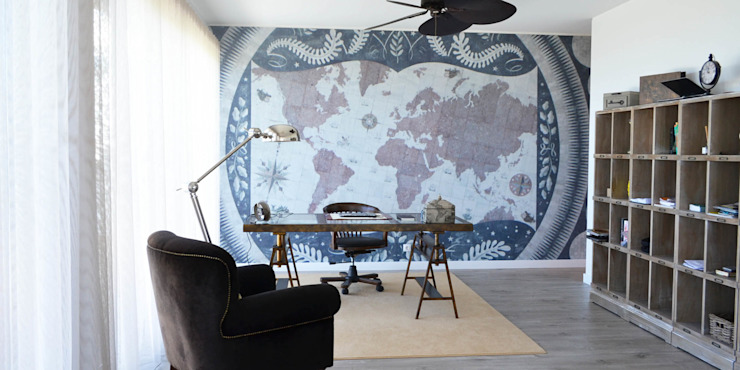 Estudios y despachos de estilo ecléctico de T2 Arquitectura & Interiores Ecléctico