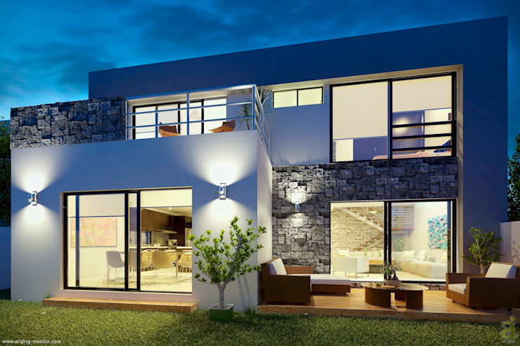 E2 COURTYARD Minimalist house by arQing Minimalist