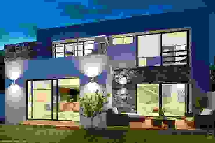 E2 Courtyard Casas de estilo minimalista de arQing Minimalista