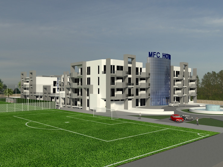 MFC HOTEL Hoteles de estilo ecléctico de jocnarq marbella arquitectura y urbanismo Ecléctico