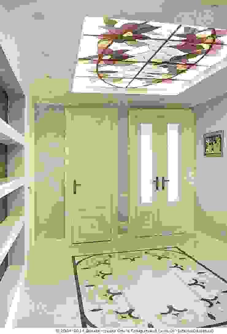 Прихожая в дизайне квартиры на Мытной Коридор, прихожая и лестница в классическом стиле от Дизайн студия Ольги Кондратовой Классический