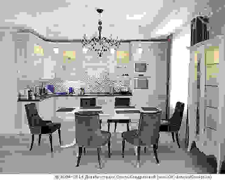 Кухня-столовая в квартире на Мытной Дизайн студия Ольги Кондратовой Столовая комната в классическом стиле