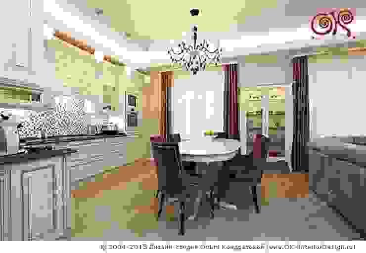 Кухня-столовая в дизайне квартиры на Мытной Дизайн студия Ольги Кондратовой Столовая комната в классическом стиле